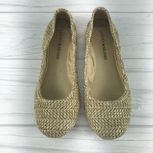 Lucky Brand Shoes - Lucky Brand Woven Emmie Flats Size 7M